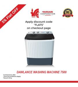 Dawlance DW-7500C Twin Tub Washing Machine-Karachi Only-Including Free Delivery-FLAT 5 % OFF