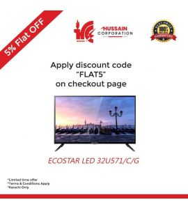 EcoStar 32 Inch 571 Series LED TV (CX32U571)-Karachi Only-Including Free Delivery-FLAT 5 % OFF