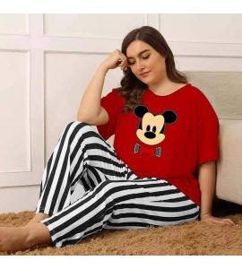 Red mickey mouse Nigthwear For Woman