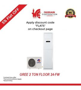 Gree 2 Ton  Floor Standing AC (GF-24-FW)-KARACHI ONLY-INCLUDING FREE DELIVERY-FLAT 5 % OFF