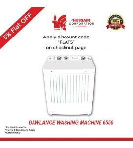 Dawlance DW-6550W Twin Tub Washing Machine--Karachi Only-Including Free Delivery-FLAT 5 % OFF