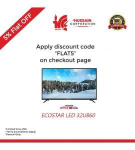 Ecostar CX-32U860 - 32 Inch - HD Led Tv - Smart Led TV --Karachi Only-Including Free Delivery-FLAT 5 % OFF