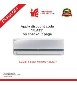 Gree  GS-18CITH 1.5 Ton Inverter Split AC-Karachi Only-Including Free Delivery-FLAT 5% OFF
