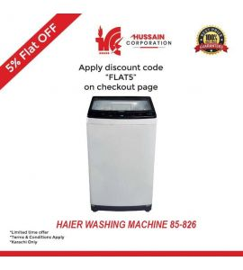 Haier Fully Automatic-Top Load-HWM 85-826-Washing Machine-10 Years Warranty-Karachi Only-Including Free Delivery-FLAT 5 % OFF