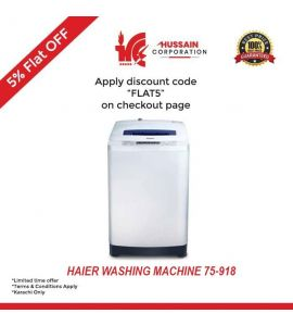 Haier Fully Automatic Top Load Washing Machine 7KG (HWM 75-918)-Karachi Only-Including Free Delivery-FLAT 5 % OFF
