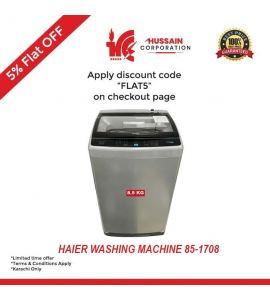 Haier Fully Automatic Washing Machine HWM 85-1708-Karachi Only-Including Free Delivery-FLAT 5 % OFF