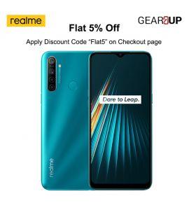 Realme 5i - 6.5 Inch Display - 4GB RAM - 64GB ROM - PTA Approved - 1 Year Official Brand Warranty - Aqua Blue - Flat 5% Discount