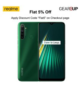 Realme 5i - 6.5 Inch Display - 4GB RAM - 64GB ROM - PTA Approved - 1 Year Official Brand Warranty - Forest Green - Flat 5% Discount