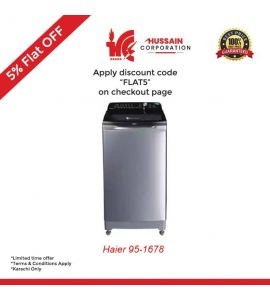 Haier 9.5 Kg Top Load Washing Machine HWM-95-1678-Karachi Only-Including Free Delivery-FLAT 5 % OFF