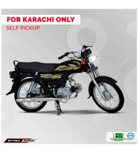 Super Power 70CC Bike Regular (Black Color)  - Karachi Only - Self Pickup