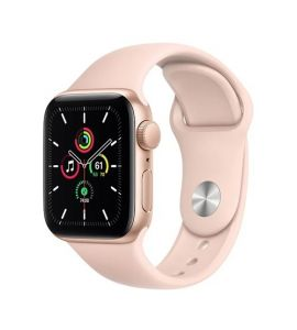 Apple iWatch SE 44mm Gold Aluminum Case With Pink Sport Band - GPS - IS