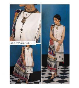 Zara Shahjahan Lawn Collection 2019 3 Piece White (ZSL Marrakesh-B) - IS