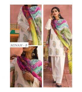 Zara Shahjahan Lawn Collection 2019 3 Piece Green (ZSL MINAH-B) - IS