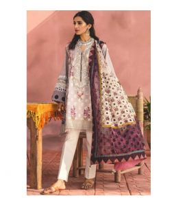 Zara Shahjahan Lawn Collection 2019 3 Piece Purple (ZSL SAHARA-B) - IS
