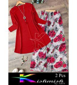 A&S Red Rozana 2 Pcs Suit