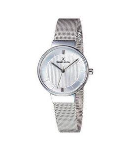 Daniel Klein Fiord Stainless Steel Watch For Women IP Silver (DK-11810-1)