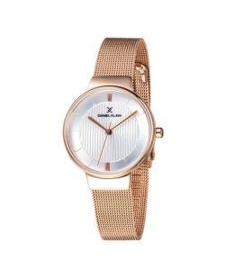 Daniel Klein Fiord Stainless Steel Watch For Women IP R.gold (DK-11810-2)