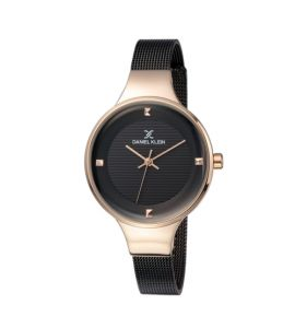 Daniel Klein Fiord Stainless Steel Watch For Women Black (DK-11846-3)