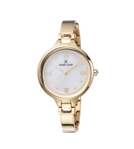 Daniel Klein Premium Stainless Steel Watch For Women IP Gold (DK-11872-5)