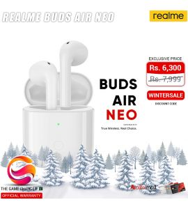 Realme Earbuds Air Neo - True Wireless - Official Warranty - White | The Game Changer