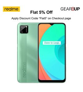 Realme C11 - 6.5 Inch Display - 2GB RAM - 32GB ROM - PTA Approved - 1 Year Official Brand Warranty - Mint Green - Flat 5% Discount