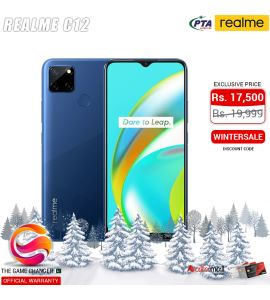 Realme C12 - 6.5 Inch Display - 13MP Camera - 3GB RAM - 32GB Storage - Dual SIM - PTA Approved - Official Warranty - Marine Blue | The Game Changer