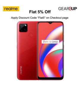 Realme C12 - 6.5 Inch Display - 3GB RAM - 32GB ROM - 6000mAH - Dual Sim - PTA Approved - 1 Year Official Brand Warranty - Coral Red - Flat 5% Discount