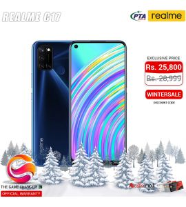 Realme C17 - 6.5 Inch Display - 13MP Camera - 6GB RAM - 128GB Storage - Dual SIM - PTA Approved - Official Warranty - Navy Blue | The Game Changer