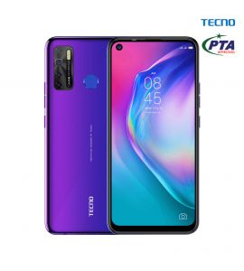 Tecno Camon 15 - 6.6 Inch Display - 4GB RAM – 128GB ROM - PTA Approved - 1 Year Official Brand Warranty – Fascinating Purple