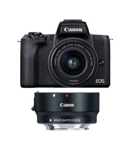 Canon EOS M50 Mark II With 15-45mm Lens & EOS M Mount Adpapter - On Installment - IS