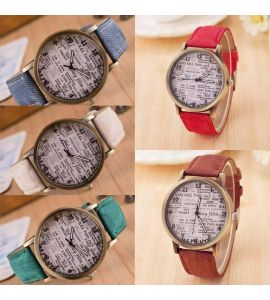 Bundle of 2 News-Paper Wrist Watches.
