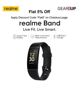 Realme Band Smart Fitness Tracker |Live Fit| Live Smart| Black