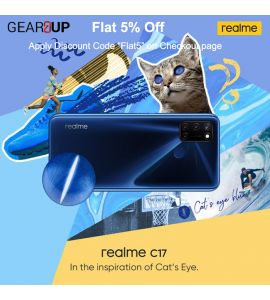 Realme C17 - 6.5 Inch Display - 6GB RAM - 128GB ROM - PTA Approved - 1 Year Official Brand Warranty - Navy Blue - Flat 5% Discount