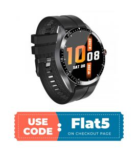 GW16 Smart Watch For Android And IOS (Black) flat 5% off TM