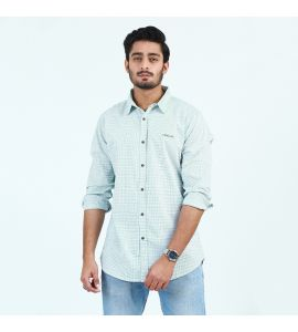 Blue Check Style Casual Shirt For Men D1