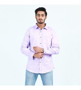 Purple  Front Pocket Casual Shirt For Men