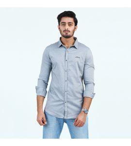 Grey Casual Shirt For Men D1