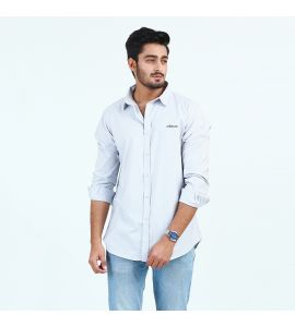 White Casual Shirt For Men