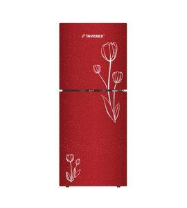 Inverex Glass Door Freezer-on-Top Refrigerator 12 cu ft Red (INV-125 GD) - On Installment - IS