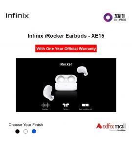 Infinix iRocker 1 Earbuds XE-15 With One Year Warranty - Zenith Enterprise- White