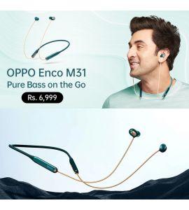 OPPO Enco M31 Wireless in-Ear Bluetooth Earphones (Green) - 1 Year Official Brand Warranty