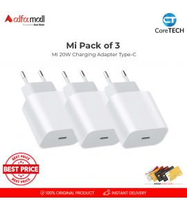 Mi 20W Charging Adapter Type-C PACK OF 3