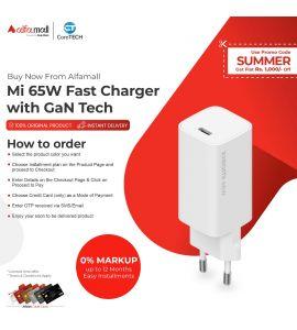 Xiaomi Mi 65W Fast Charger With GaN TECH EU CoreTECH Installment