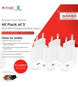 Mi Pack of 3 Mi 20W Charging Adapter Type-C CoreTECH Installment