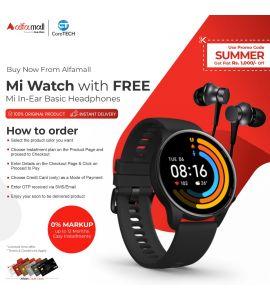 Mi Watch with FREE Mi In-Ear Basic Headphones CoreTECH Installment