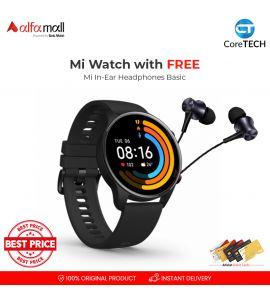 Xiaomi Mi Smart Watch with FREE Mi In-Ear Basic Headphones CoreTECH