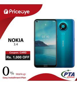 Nokia 3.4 ( 64GB - 4GB  ) - On Easy Installments