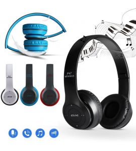 P47 Foldable Stereo Bluetooth Headphones Wireless Headset Noise Cancelling Audio Headphone MP3/MP4/FM Player with Builtin Microphone – Multicolor