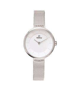 Obaku Mesh Women's Watch Silver (V177LECIMC)