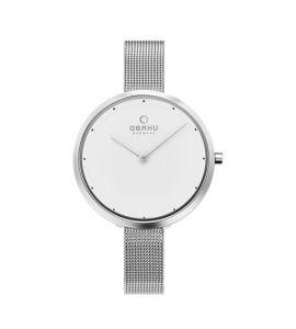 Obaku Dok Steel Women's Watch Silver (V227LXCIMC)